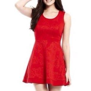 EUC L'Amour Nanette Lepore Red Rose Dress Medium